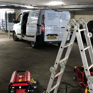 Draincare Direct Van at a commercial property